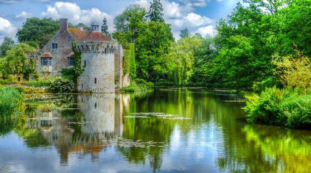 Фото бесплатно Замок Скотни, Великобритания, Сад