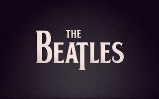 Бесплатные фото битлз,музыкальная группа,надпись,буквы,фон черный,заставка