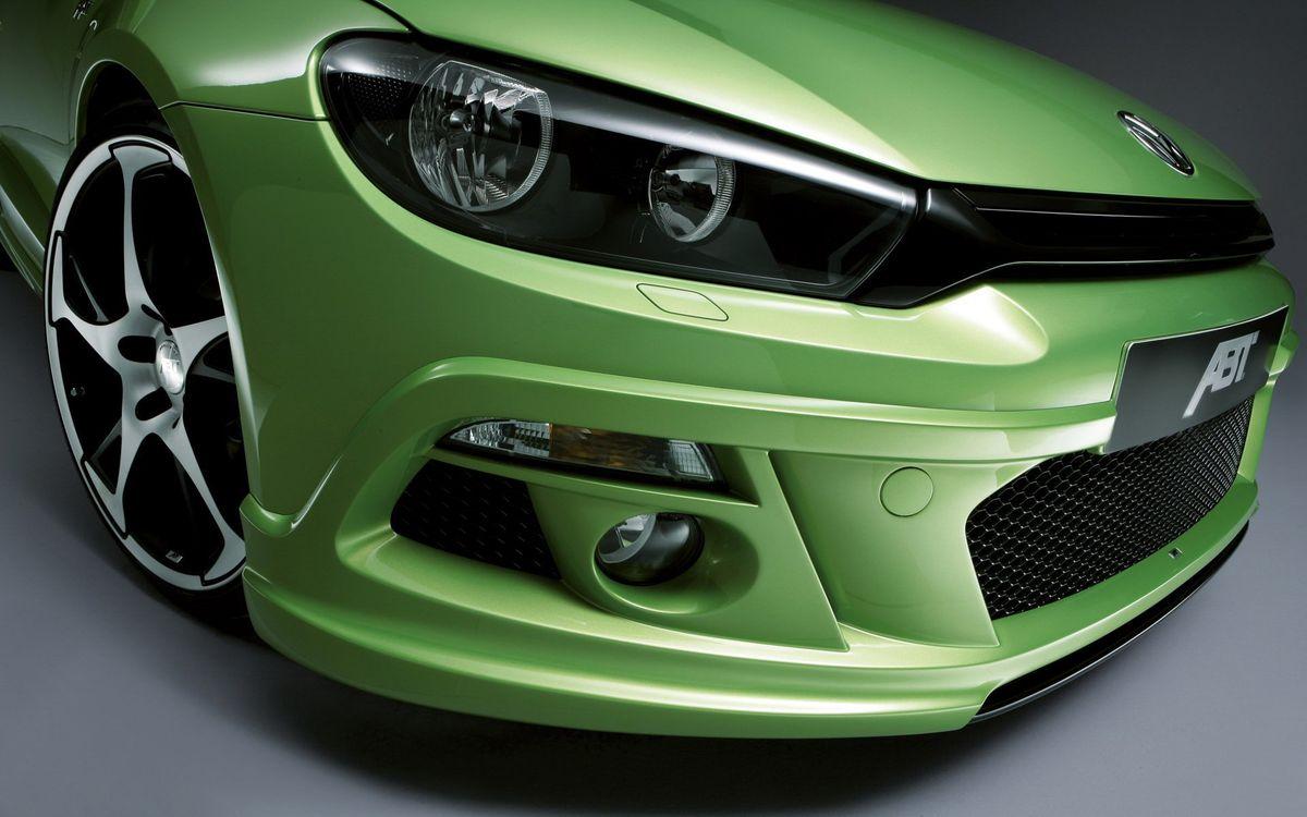 Фото бесплатно фольксваген, зеленый, решетка, фары, пампер, диски, машины