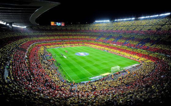 Фото бесплатно футбольный стадион, поле, команды