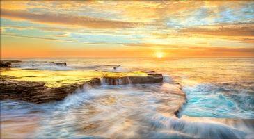 Бесплатные фото Maroubra,Новый Южный Уэльс,Австралия,закат,море,берег,скалы