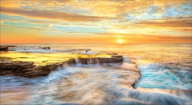 Бесплатные фото Maroubra,Новый Южный Уэльс,Австралия,закат,море,берег,скалы,пейзаж