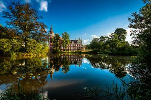 Заставки Schloss Muskau, дворец, Шлосс, Герлиц, Саксония, Германия, Парк Мускау