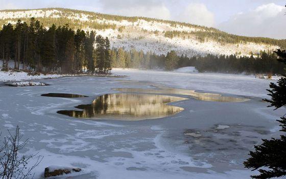 Фото бесплатно зима, озеро, вода