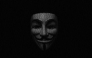Бесплатные фото маска,анонимуса,надписи,буквы,фон,черный