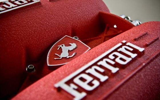 Фото бесплатно Ferrari, двигатель, логотип