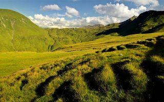 Бесплатные фото лето,горы,трава,небо,облака