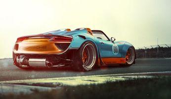 Бесплатные фото новый порше, Porsche, кольцевые гонки