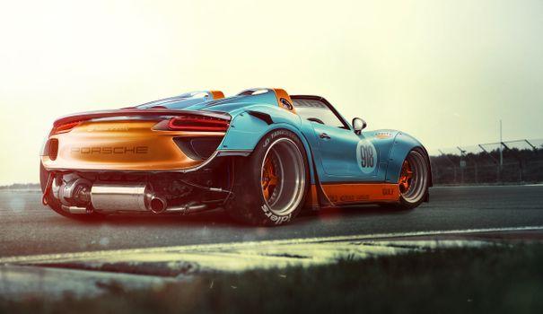 Фото бесплатно новый порше, Porsche, кольцевые гонки