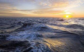 Бесплатные фото море, волны, горизонт, закат, солнце, небо, облака