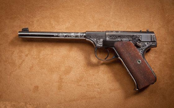 Photo free pistol, barrel, engraving
