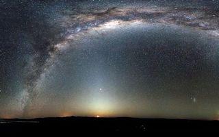 Фото бесплатно свечение, Млечный Путь, ночь