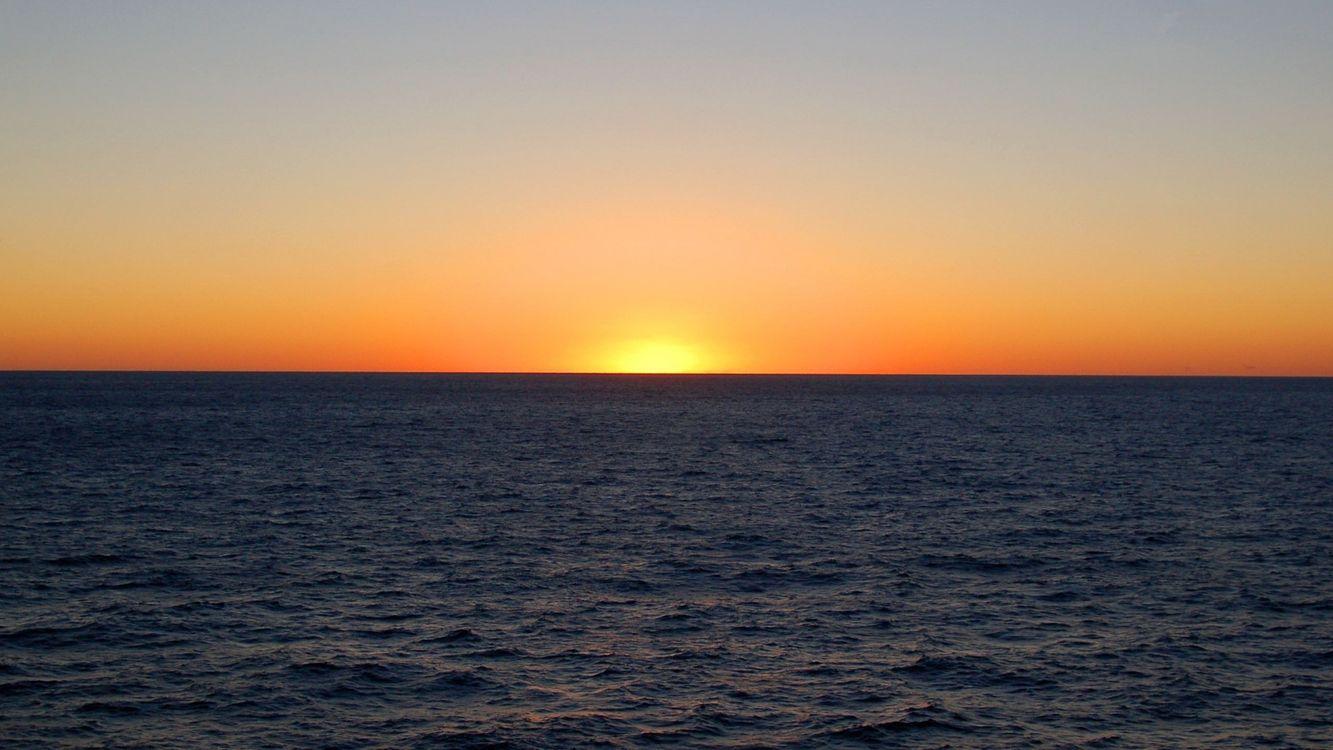 Фото бесплатно вечер, море, горизонт, небо, солнце, закат, пейзажи