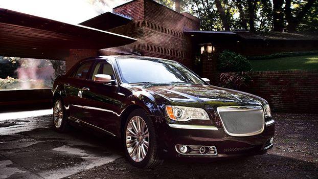 Бесплатные фото chrysler sedan,черный