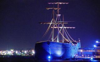 Фото бесплатно ночь, порт, пристань