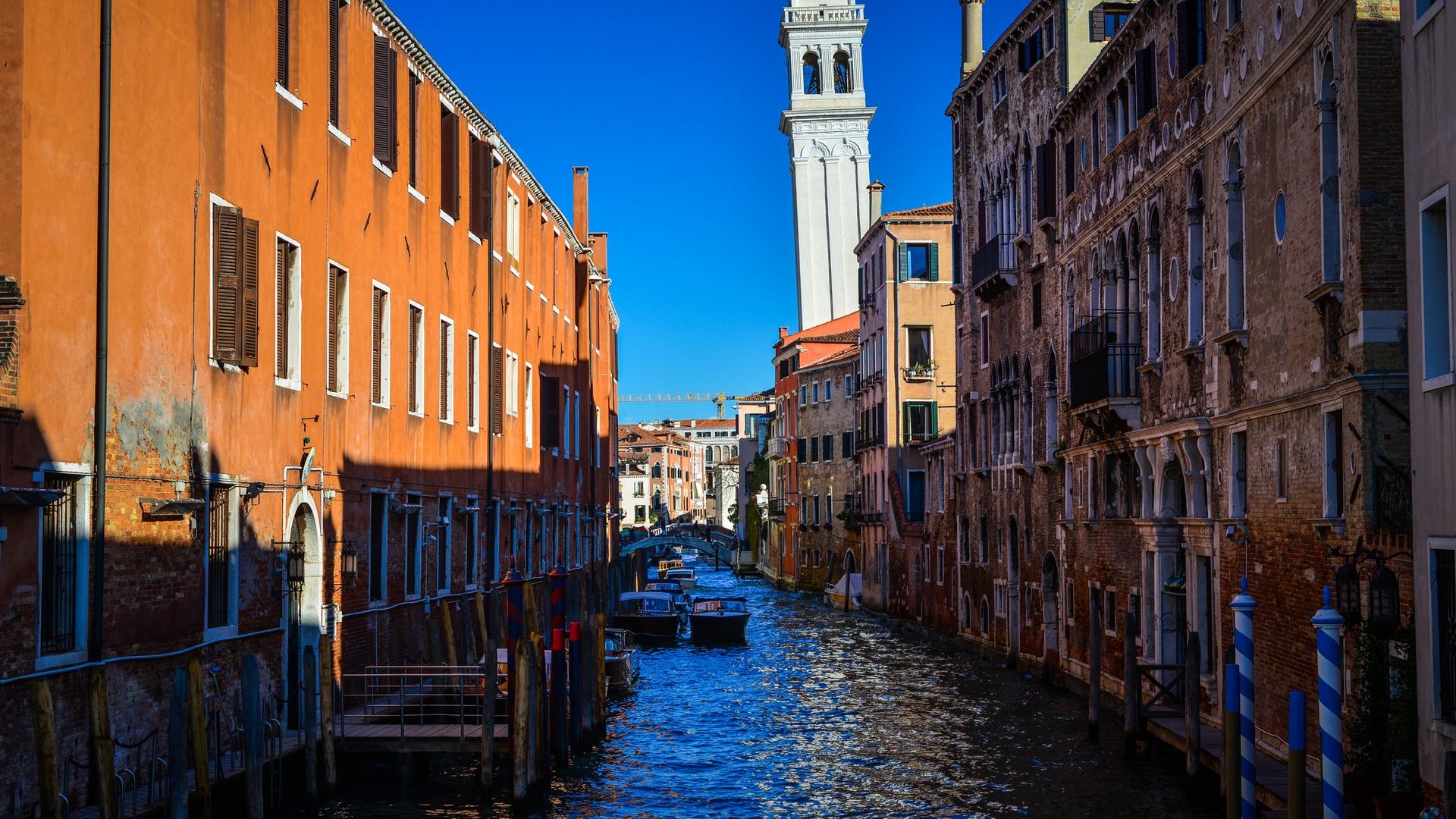 Венеция, канал, лодки