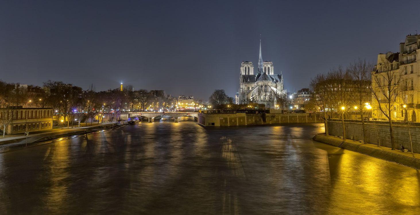 Фото бесплатно Собор Парижской Богоматери, Notre-Dame de Paris, Paris, France, Париж, Франция, город - скачать на рабочий стол