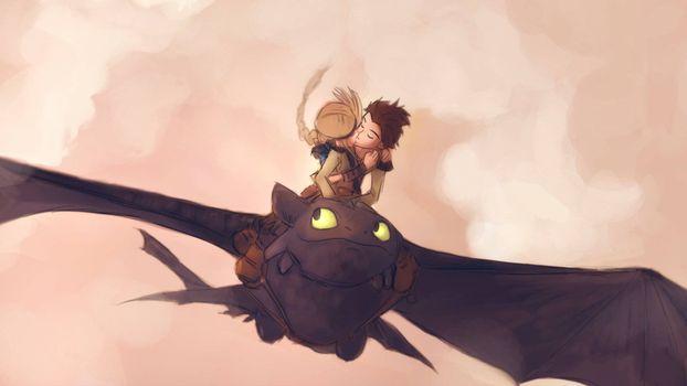 Фото бесплатно как приручить дракона, парень, девушка