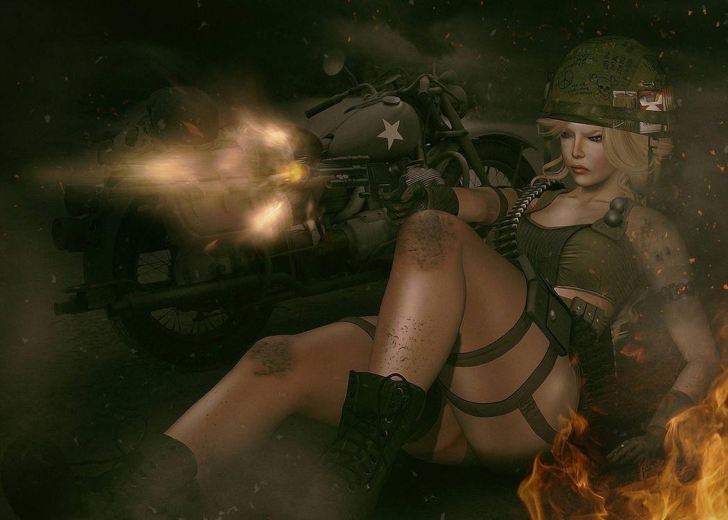 Фото бесплатно девушка воин, фантастическая девушка, девушка - на рабочий стол