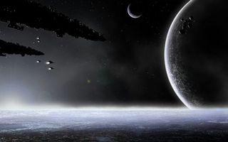 Бесплатные фото космические корабли,полет,звезды,свечение,планеты,невесомость