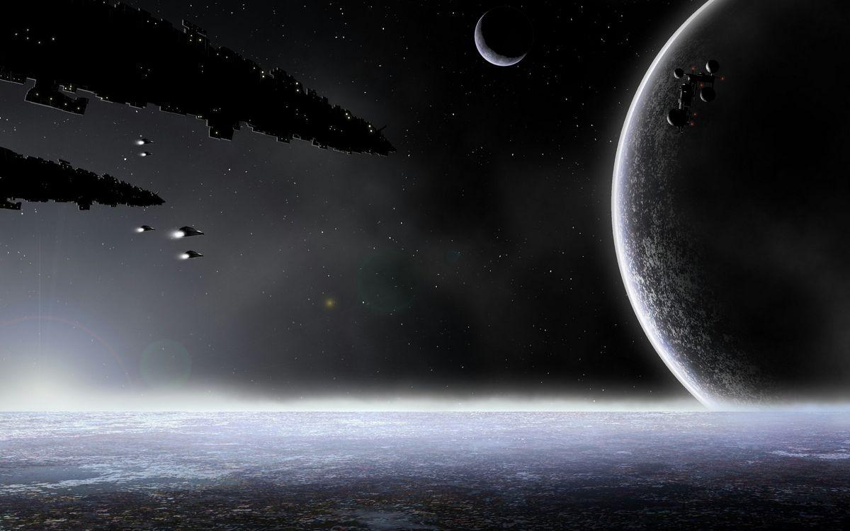 Фото бесплатно космические корабли, полет, звезды - на рабочий стол