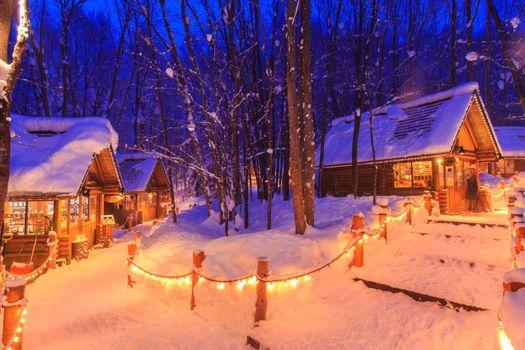 Фото бесплатно ночь, огни, пейзаж