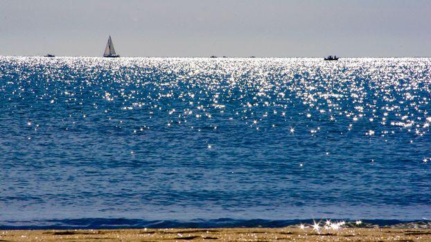 Фото бесплатно пляж, море, лодки