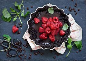 Бесплатные фото сладкое, десерт, пирог, шоколад, малина, мята
