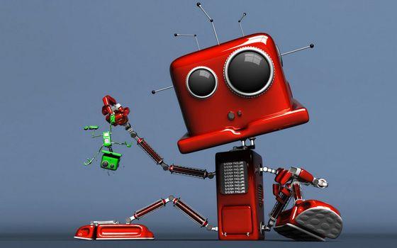 Бесплатные фото роботы,большой и маленький,голова,антенны,руки,ноги