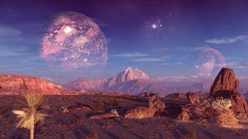 Фото бесплатно метеориты, астероиды, вакуум