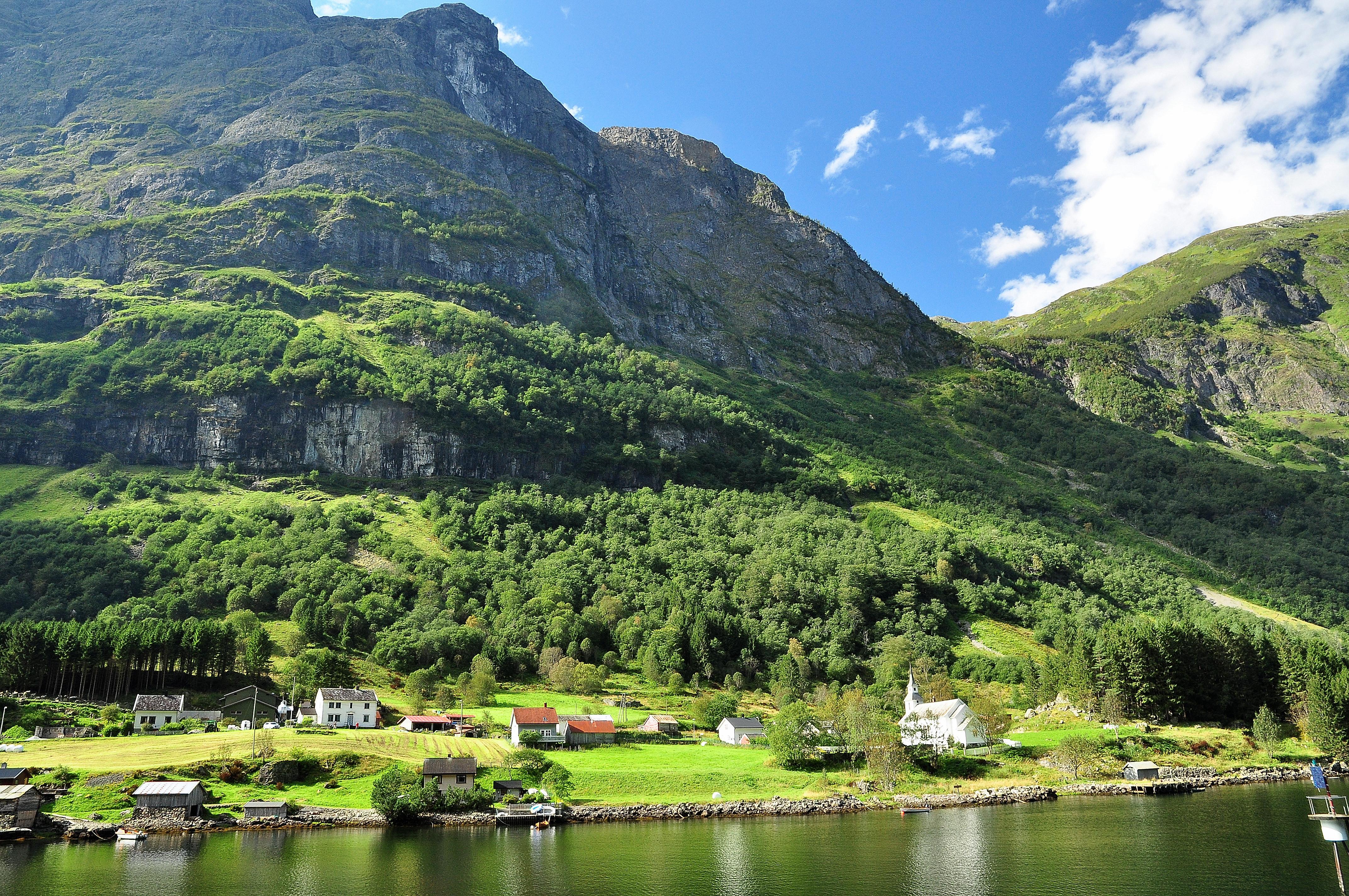 обои Norway fjord, Фьорд, Норвегия, река картинки фото