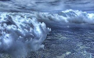 Бесплатные фото высота,полет,небо,облака,земля,город