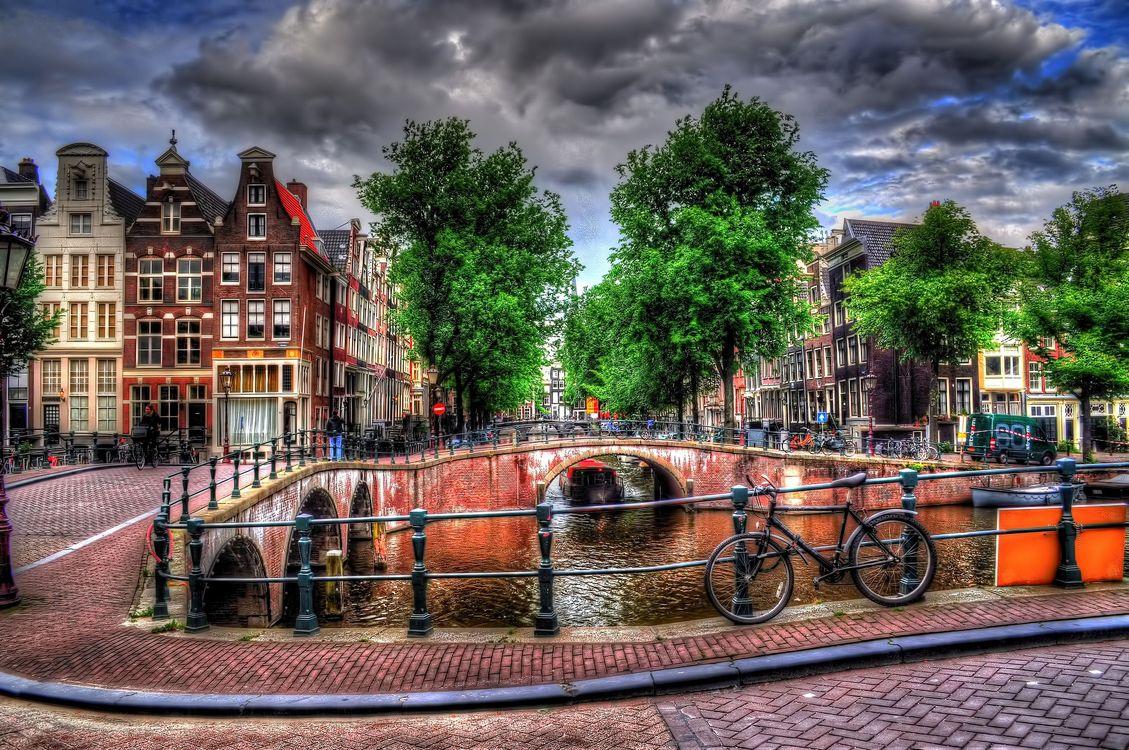 Картинка Amsterdam, Нидерланды, Северная Голландия, Амстердам на рабочий стол. Скачать фото обои город