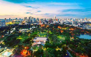 Бесплатные фото Тайланд, Бангкок, мегаполис, дома, небоскребы, лето, ночь