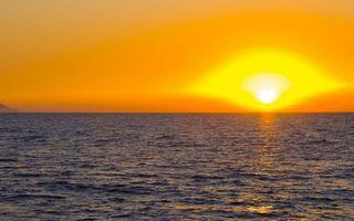 Фото бесплатно желтый, закат, горизонт