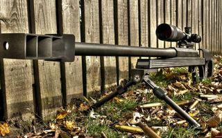 Photo free sniper rifle, barrel, bipod