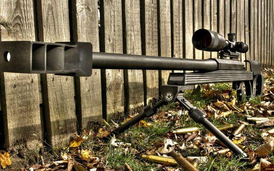 Фото бесплатно снайперская винтовка, ствол, сошки