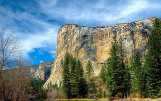 Бесплатные фото деревья,горы,скала,камни,небо,облака