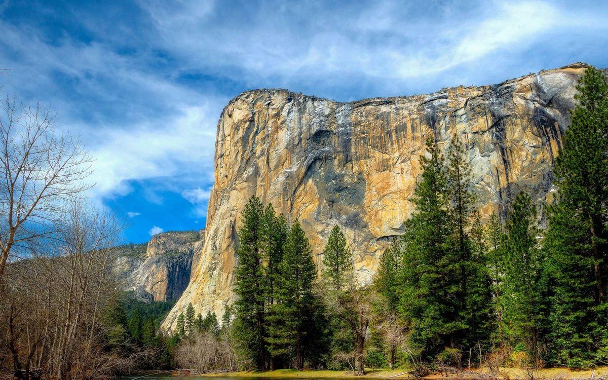 Фото бесплатно деревья, горы, скала - на рабочий стол