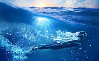 Бесплатные фото море,волны,девушка