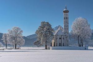 Бесплатные фото St Coloman Church,Bavaria,Германия,Церковь