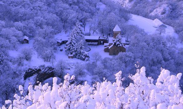 Фото бесплатно дома, Пейзаж, снег