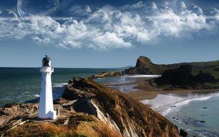 Фото бесплатно берег, скалы, маяк