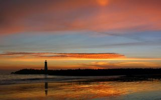 Фото бесплатно вечер, побережье, насыпь
