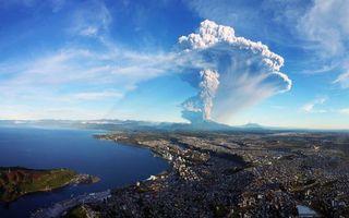 Фото бесплатно Вулкан кальбуко, Чили, Calbuco Volcan, Chile, пейзаж