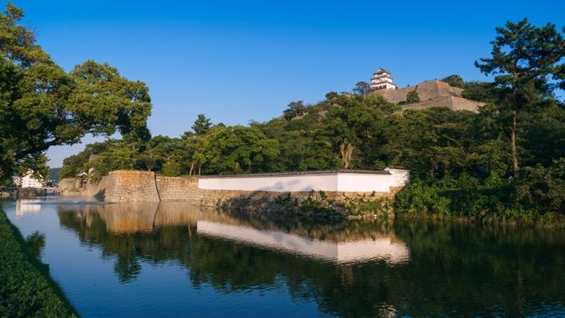 Photo free Japanese castle, river bank