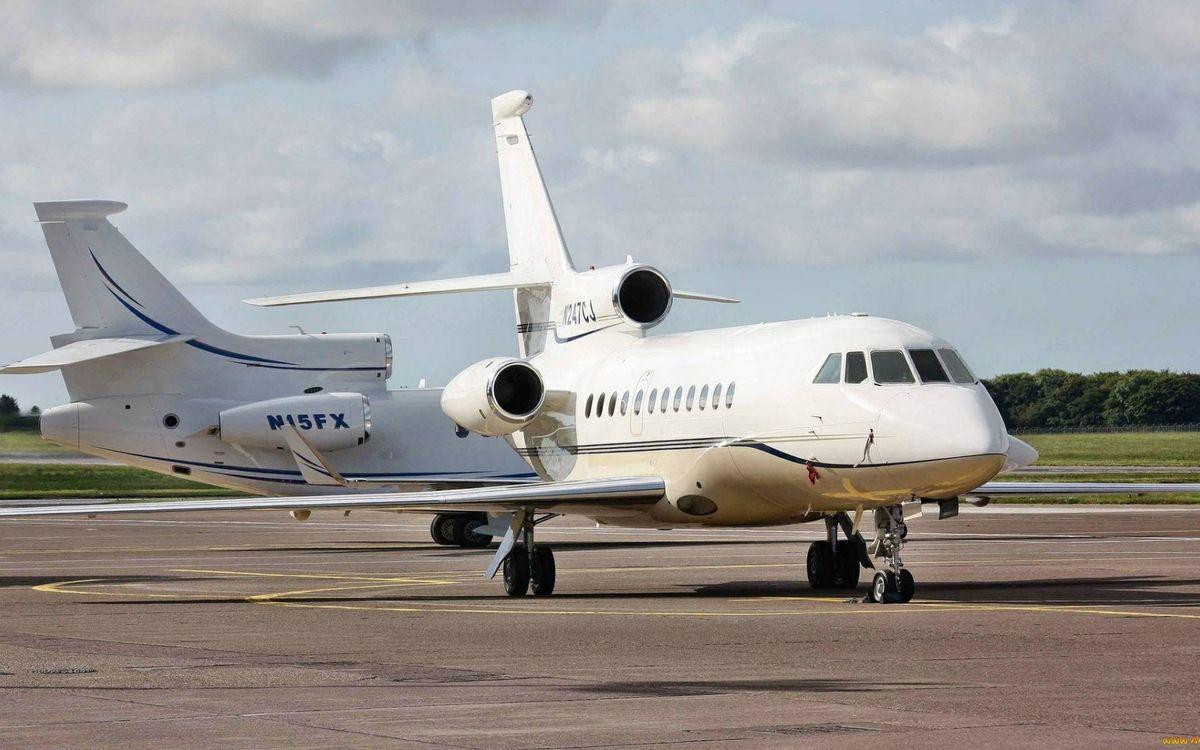 Фото бесплатно самолеты бизнес класса, крылья, хвосты - на рабочий стол