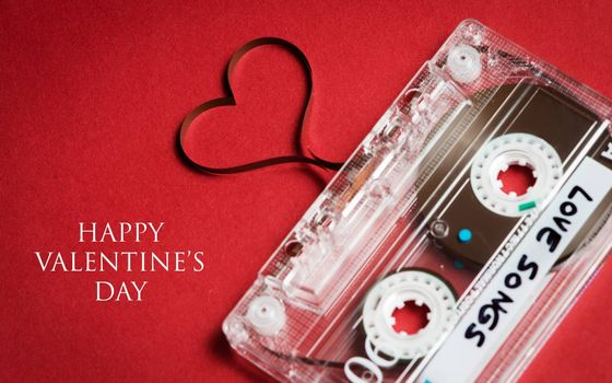 Photo free audio cassette, film, heart