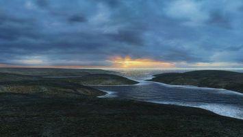 Бесплатные фото вечер,берег,залив,море,горизонт,небо,облака