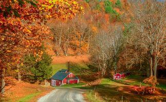 Фото бесплатно Вермонт, Осень, Брук-Фарм